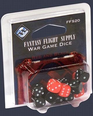 Buy Fantasy Flight Games - Fantasy Flight Supply Wargame Dice, Red and Black by Fantasy Flight